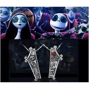 Nightmare Before Christmas Jack & Sally  Necklace